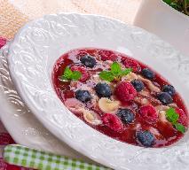 Zupa owocowa na zimno z menu Beszamel