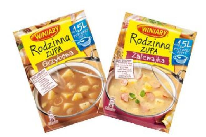 Grzybowa i zalewajka - nowe smaki zup marki Winiary
