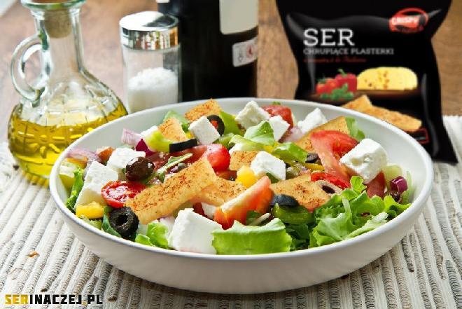 Sałatka grecka z serami - prosty przepis