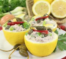 Skórki cytrynowe nadziewane genialną pastą z tuńczyka